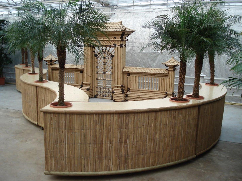 Bar rond incl 2 palmen uitgifte buffet per deel poley for Sideboard 90 x 60