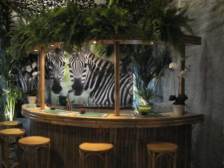 Half-ronde bamboe bar